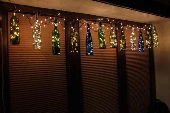 Best 25 outdoor fairy lights ideas on pinterest fairy for Wine bottle patio lights