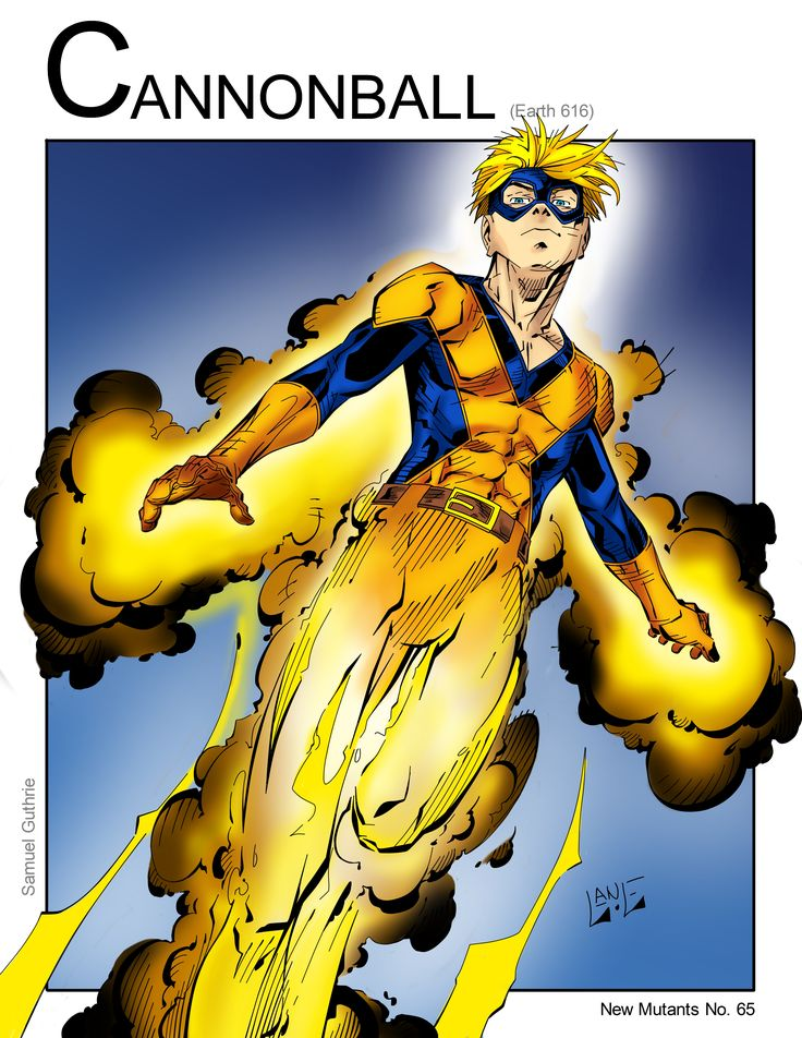 Cannonball (Marvel Comics) New Mutants by Nickolas Lane                                                                                                                                                                                 More