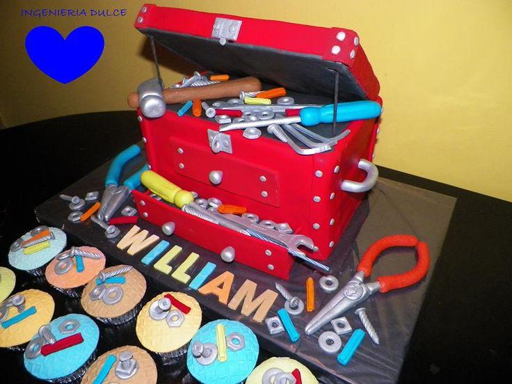 M s de 25 ideas incre bles sobre torta de caja de - Cajas de herramientas baratas ...