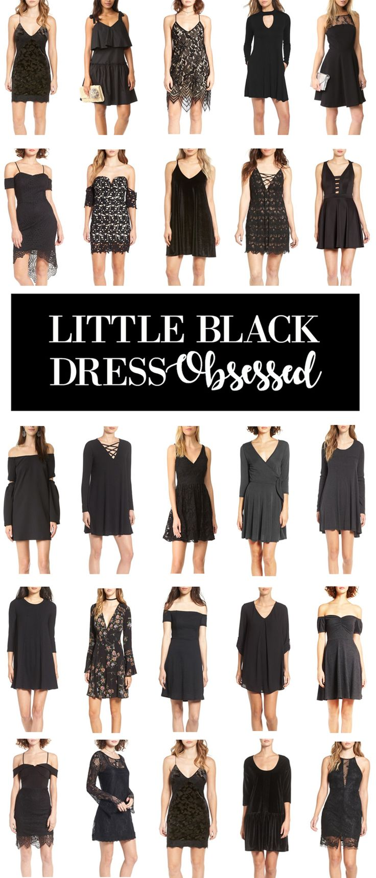 25 of the cutest little black dresses ALL UNDER $50!   Fashion blogger Mash Elle rounds up the most affordable black dresses from Nordstrom and Shopbop. Perfect for dates, anniversaries, parties and formal events!