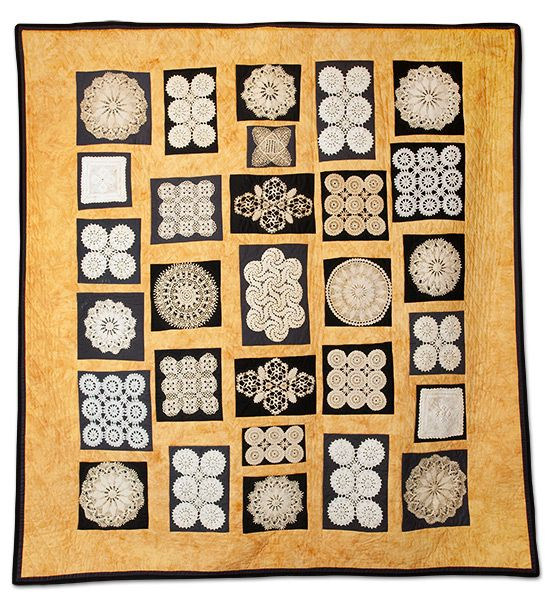3rd Generation Doily Quilt by Mindy Wexler-Marks  This quilt uses doilies made by my grandmother (Anna Wexler), my mother (Sarah Wexler), and my aunt (Freida Wexler).