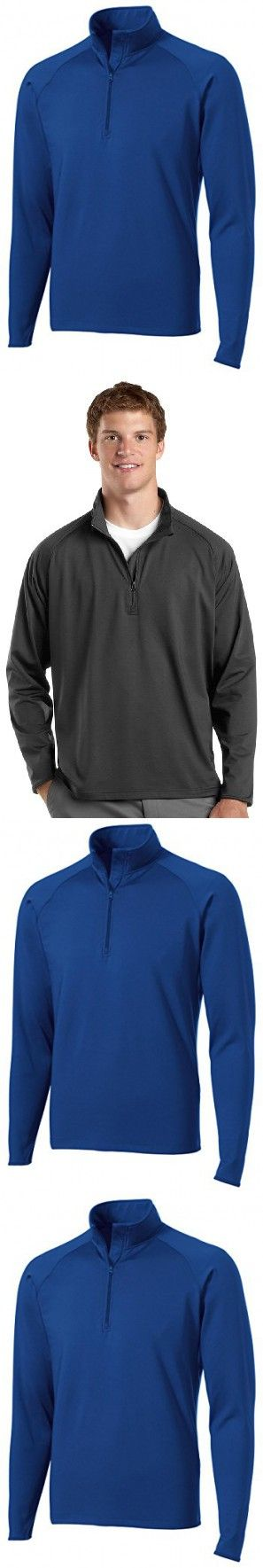 Sport-Tek Mens Sport-Wick Stretch 1/2-Zip Pullover, Large, True Royal