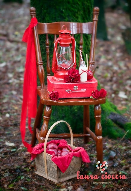 Decoration for a Little Red Riding Hood Party
