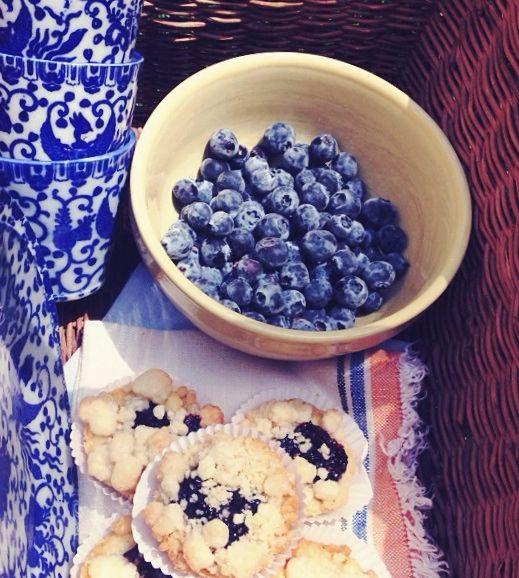Our triple berry tarts