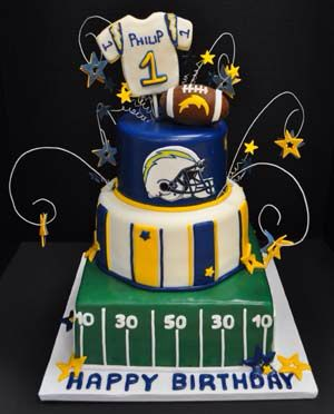 47 best San Diego Chargers Cakes images on Pinterest San diego
