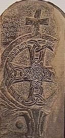 """Abraham Stone"", St Davids Cathedral.  11th century celtic art"