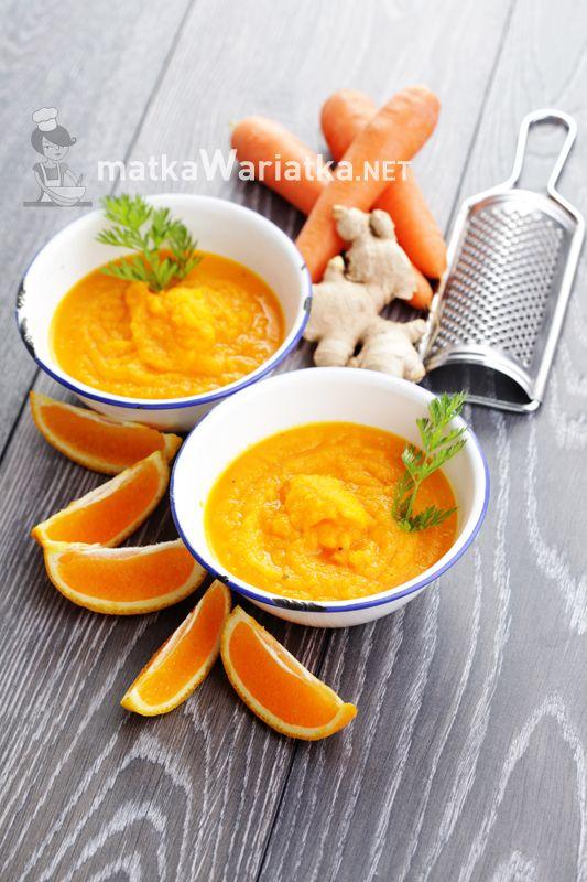 carrot and orange cooler :)  http://www.matkawariatka.net/2014/07/chlodnik-marchewkowy-z-pomarancza-i-imbirem/