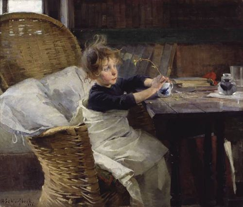 """Helene Schjerfbeck (Finnish, 1862-1946) ~ """"The Convalescent"""" 1888"""