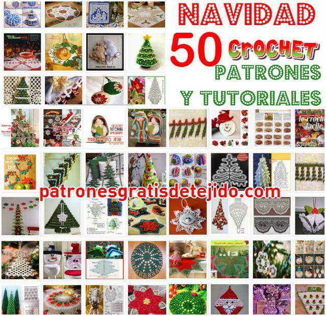 Patrones y tutoriales de adornos de navidad carpetas, pinos, esferas, Belenes