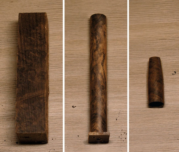 1. The artisans select only the most exotic woods like precious grenadille and ebony wood for this exceptional collection of Writing Instruments. Cap and barrel tubes of challenging thin wall thickness are sculptured out of wooden raw material.