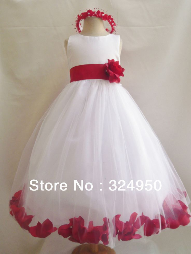 2014 Anniversary Sales Promotion A-Line Straps Ankle-Length Organza Colourful Petal Flower Girl Dresses YZ051510 US $39.90