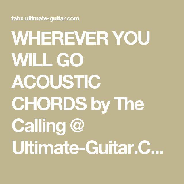 Wherever you will go guitar chords