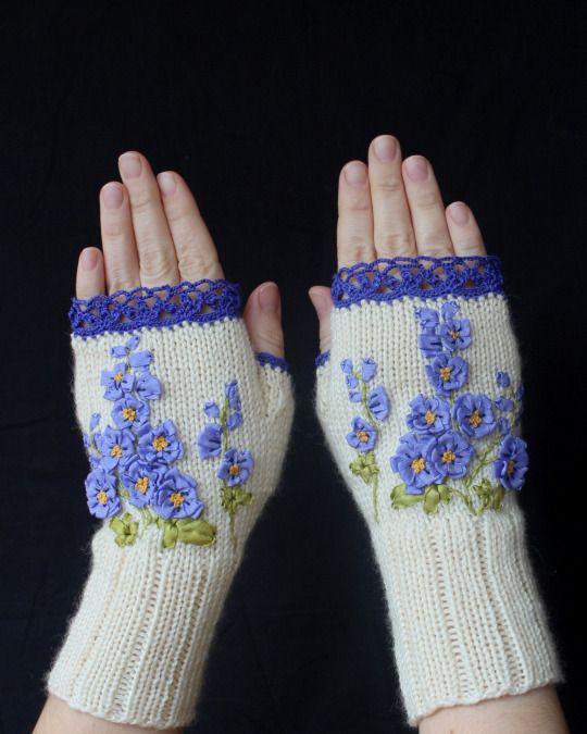 Fingerless gloves by nbGlovesAndMittens on Etsy
