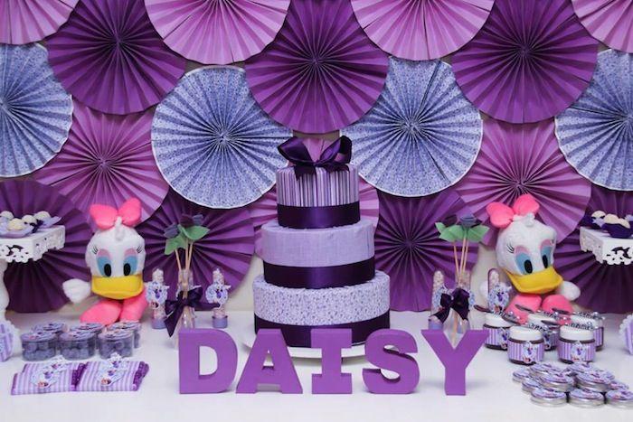 Daisy Duck themed birthday party Full of Fabulous Ideas via Kara's Party Ideas | KarasPartyIdeas.com #DonaldDuck #Disney #PartyIdeas (19)