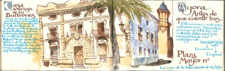 Ayora, Valencia, Spain. Casa de los Buitrones, Plaza Mayor.