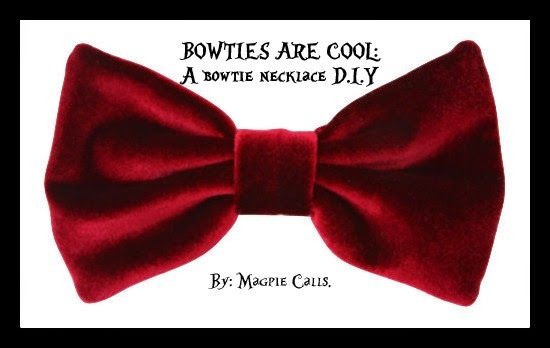 Cute Doctor Who bowtie necklace D.I.Y. by Magpie Calls.