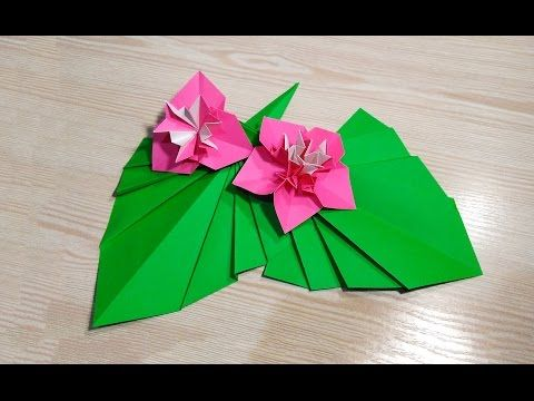 Origami leaf for decor. Easy way to decorate your room. Ideas for Easter - YouTube