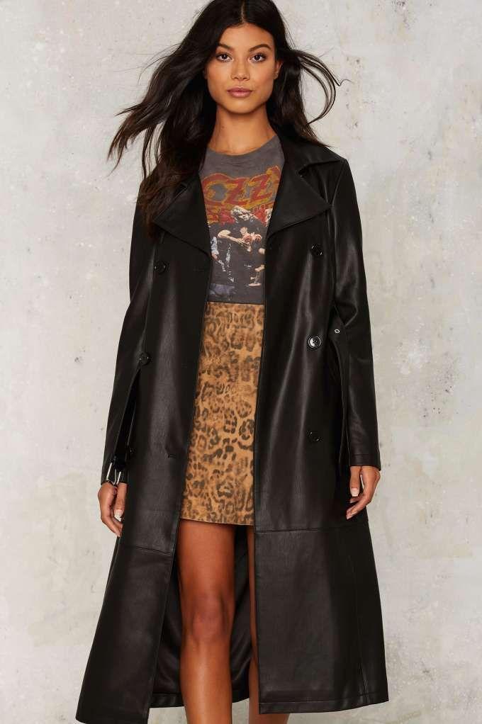 super cool vegan faux leather long coat from nastygal #vegan #vegetarian #plantbased #healthy #veganfashion
