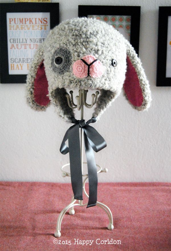 Crochet Jobs : ... crochet bunny hat conejito crochet ganchillo adicto sombrero del