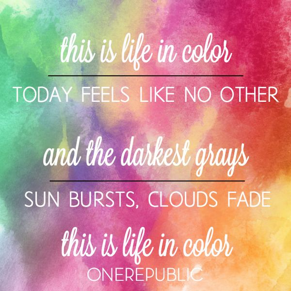 This is life in color, today feels like no other. | Le Chaim (on the right) #OneRepublic