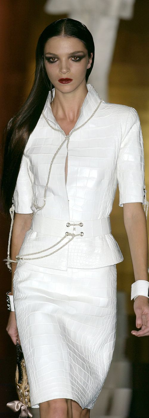 Valentino ~ Couture Spring White Skirt Suit