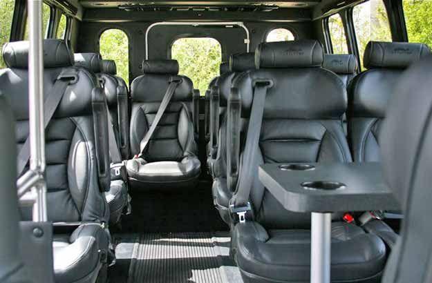 12-Passenger Business Class Van Interior