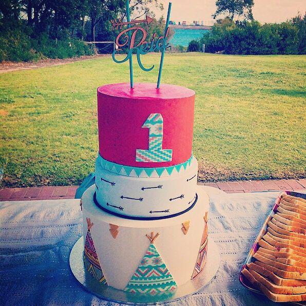 My sons Pow Wow 1st birthday cake