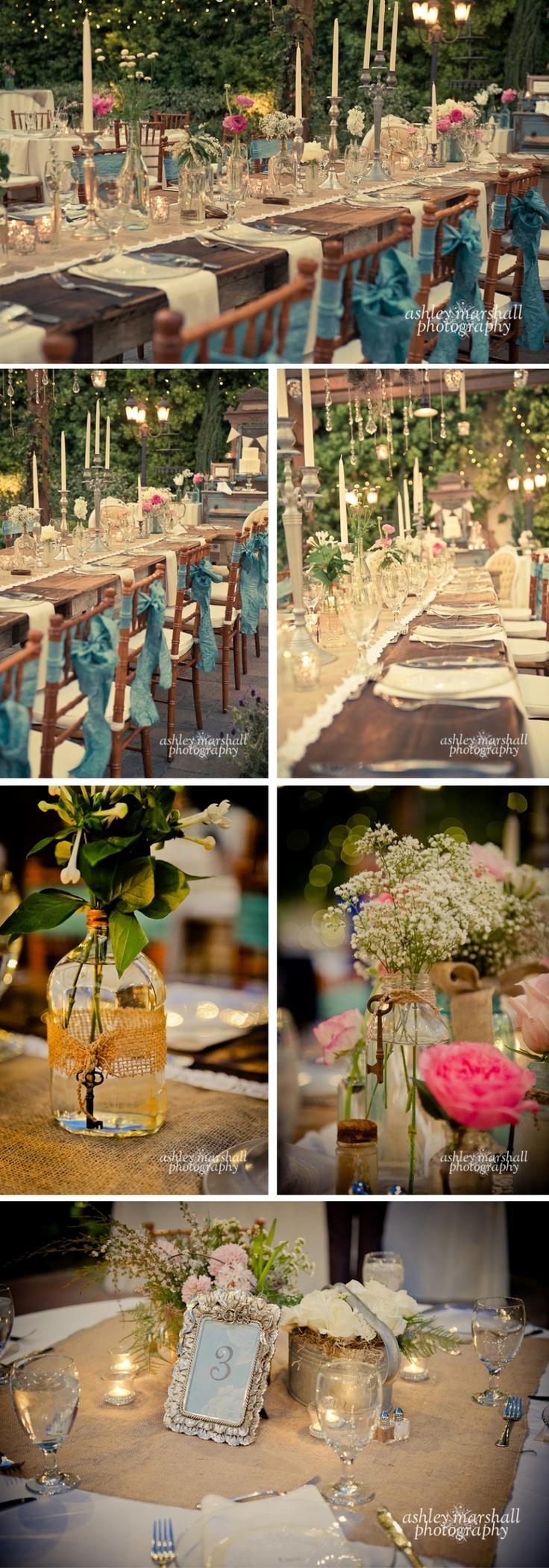 burlap, candles, lace, romance= PERFECTION!!