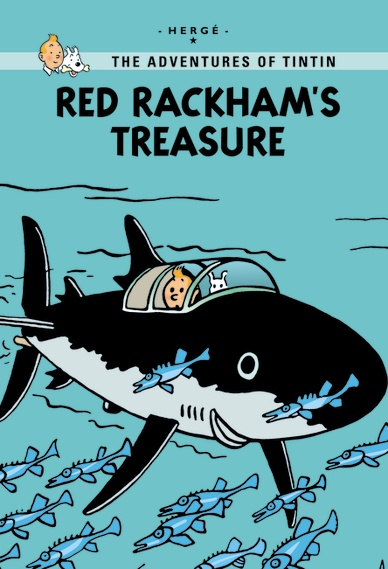 Little, Brown Young Readers Red Rackham's Treasure  Published: May 2011  Determined to find the treasure of notorious pirate Red Rackham, Tintin and Captain Haddock set sail aboard the Sirius to find the shipwreck of the Unicorn. Following the clues and making use of an ingenious shark-shaped submarine, Tintin is ready for an ocean adventure—but is he ready for the big twist the journey will take? In this new extended edition, 30 extra pages explain the inspiration behind Red Rackham's…