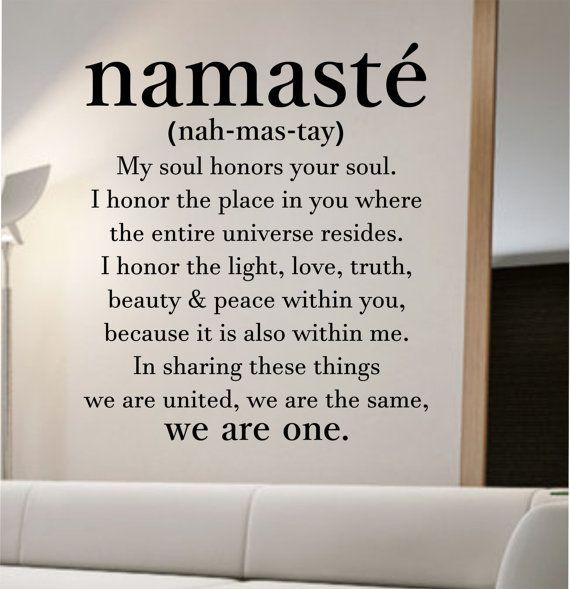 awesome namaste definition quote Wall Decal namaste Vinyl Sticker Art Decor Bedroom Design Mural home decor room decor trendy modern yoga peace love
