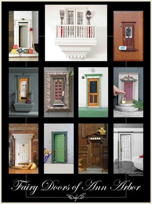 Fairy doors.  An installation art project in Ann Arbor.