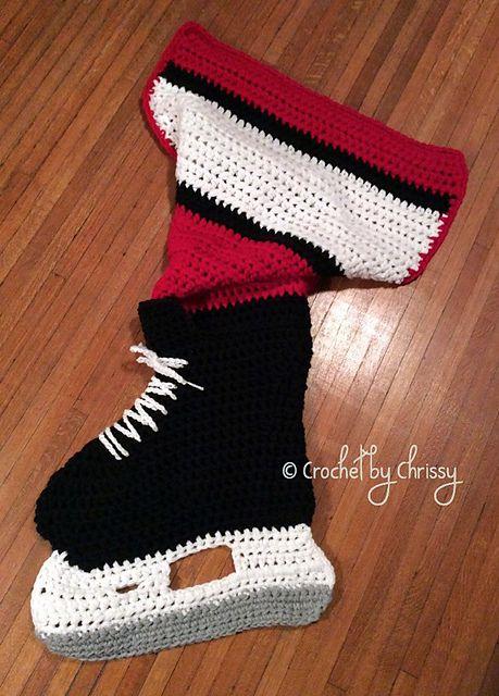 Free Crochet Pattern Baby Hockey Skates : Hockey Skate Blanket pattern by Crochet by Chrissy ...