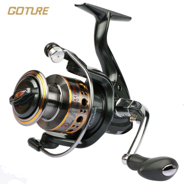 Goture Pesca Spinning Carrete 12BB + 1 Bolas de Rodamiento 1000-7000 Series Hilado Carrete Rueda Barco de Pesca de Roca