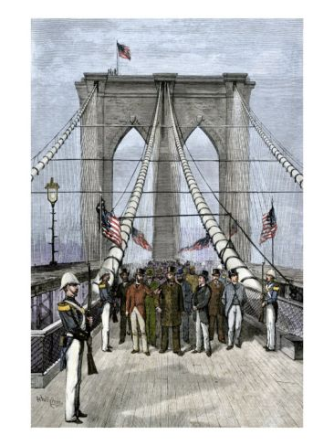 President Chester A. Arthur Presiding over the Opening of the Brooklyn Bridge, 1883 Giclee Print at Art.co.uk