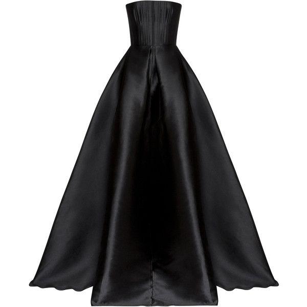 Greyson Italian Silk Gown   Moda Operandi ($1,860) ❤ liked on Polyvore featuring dresses, gowns, long dress, vestidos, silk dress, alex perry, strapless evening gowns, strapless evening dresses and strapless dresses