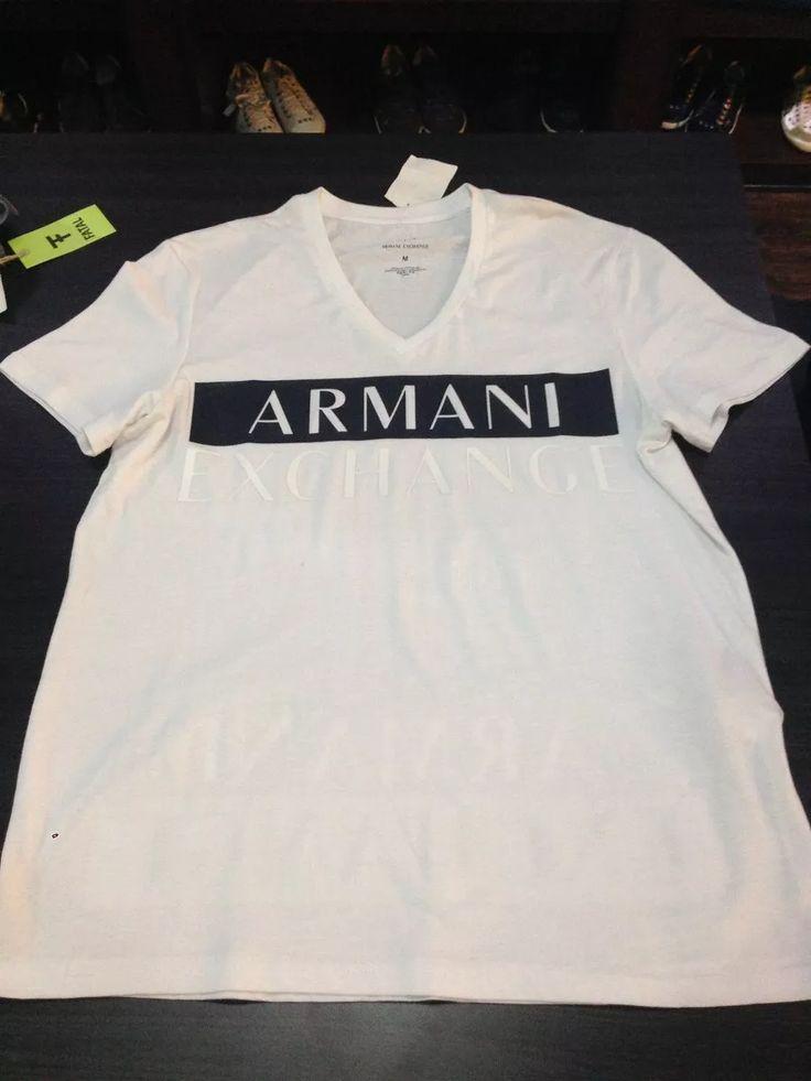 camiseta armani exchange gola v
