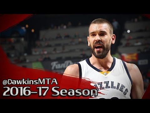 Marc Gasol Full Highlights 2016.12.29 vs Thunder - 25 Pts, 8 Rebs, 5 Blks! - YouTube