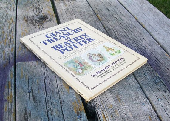 Vintage Book Giant Treasury of Beatrix Potter by VintageCDChyld
