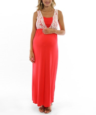 lace maternity maxi dress maternity maxi coral lace and maternity