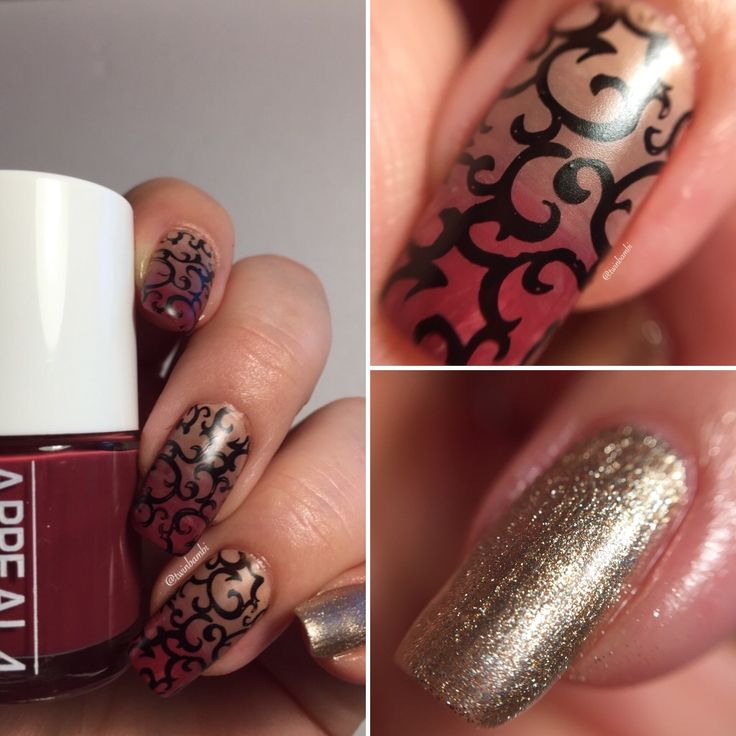 @appeal4 Cuddly Sweater m. Frozen Skyline Liquid Leather from  @ChinaGlazeNailLacquer. Stamping Plate from Born Pretty