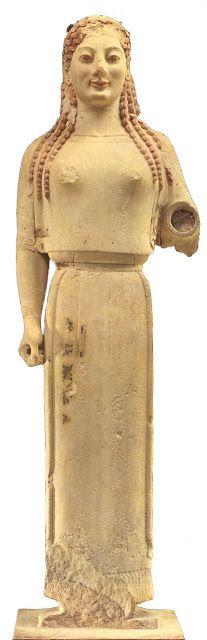Kor 233 Del Peplo 530 A C Escultura Que Muestra La