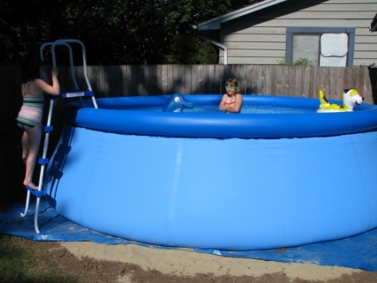 17 best images about level ground on pinterest above ground pool liners pools and how to for Pop up swimming pool maintenance