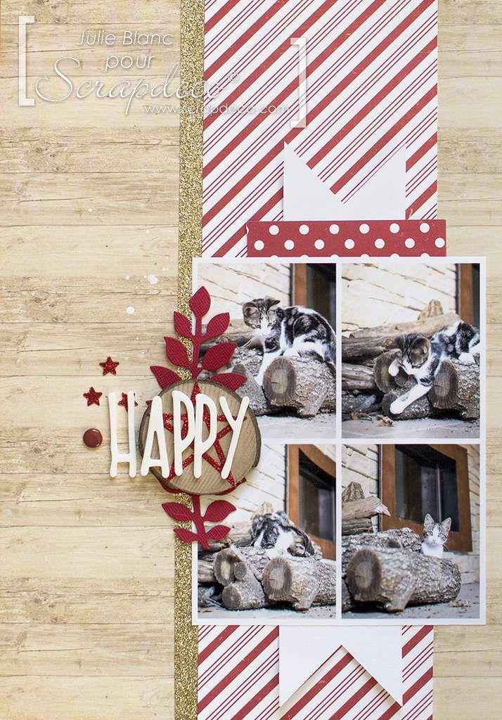Deux pages avec le kit de Noël Scrapdeco - Julie Blanc