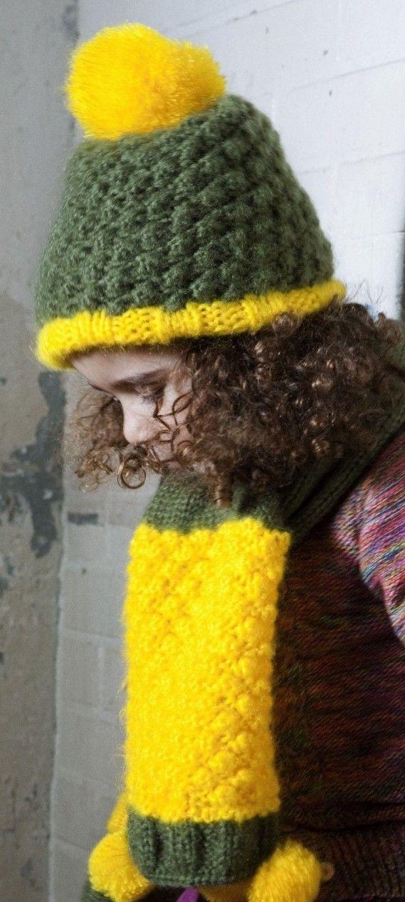 Groene / gele sjaal - Le Big