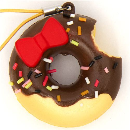 hello kitty squishies | Hello Kitty chcolate donut squishy charm haha love this one