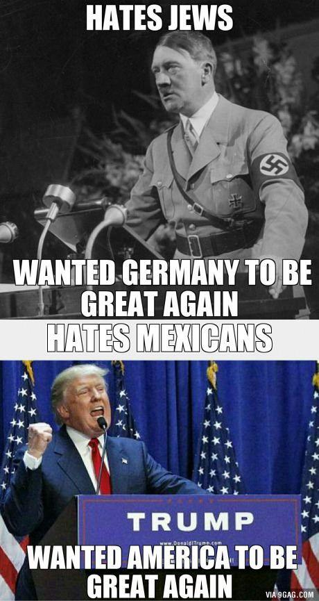 Trump/Hitler comparison