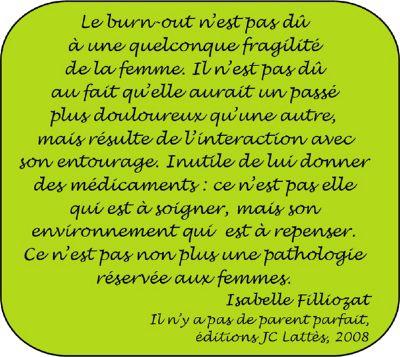 Citation sur le burn-out - Isabelle Filliozat