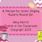 This set includes the lettering as a sign or as individual letters (A Recipe for Great Singing) and 10 vocal health/performance tip cards (both hal...