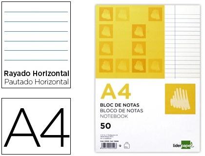 Bloc de notas Din A4 encolado Liderpapel  http://www.20milproductos.com/bloc-de-notas-encolado-liderpapel.html