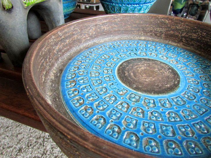 Bitossi Rimini Blu objects by Aldo Londi * original midcenty Italian art ceramics - available from allmodern on ebay